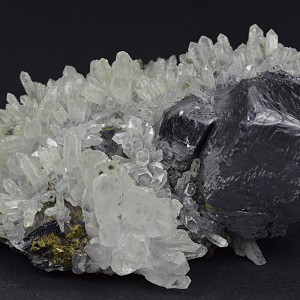 Quartz, Galena, Pyrite, Calcite