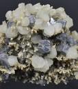 Truncated Galena, Calcite, Quartz, Pyrite