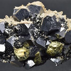 Truncated Galena, Chalcopyrite, Sphalerite, Quartz, Calcite