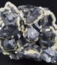 Truncated Galena, Calcite
