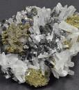 Iridescent Chalcopyrite, Sphalerite, Bi-terminated Quartz, Calcite