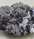 Iridescent Sphalerite, melted habit Galena, iridescent Chalcopyrite