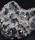 Truncated Galena, Calcite, Sphalerite
