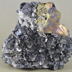 Truncated Sphalerite, Iridescent Chalcopyrite, Quartz