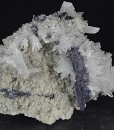 Thin Galena plate, Quartz, Calcite, Sphalerite