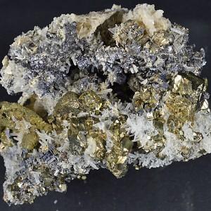 Chalcopyrite, Pyrite, Galena, Calcite, Quartz