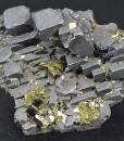 Skeletal Galena, Chalcopyrite, Pyrite, Calcite