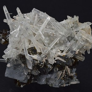 Bi-terminated Quartz, Cleiophane, Galena, Calcite