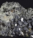 Truncated Galena, Sphalerite, Quartz, Calcite