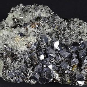 Truncated Galena, Sphalerite, Quartz, Calcite