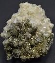 Sandy Pyrite set on Quartz, Calcite