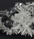 Sphalerite tetrahedrons, thin Galena plates, Quartz