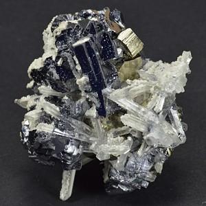 Twinned Galena, Pyrite, Quartz, Calcite