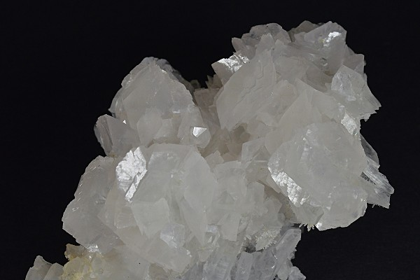 Rhombohedral Calcite set on Quartz