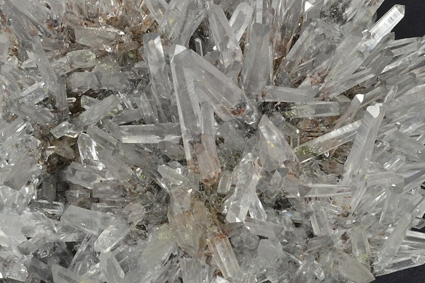 Transparent Quartz crystals