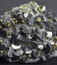 Truncated Galena, Chalcopyrite, Quartz, Calcite