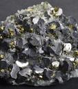 Truncated Galena, Chalcopyrite, Quartz, Calcite