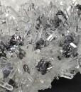 Sphalerite octahedrons, Quartz, Galena