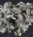 Japan Law Twin Quartz, Pyrite, Cleiophane, Calcite