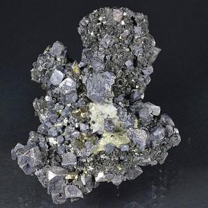 Truncated Galena, Iridescent Sphalerite, Pyrite, Calcite