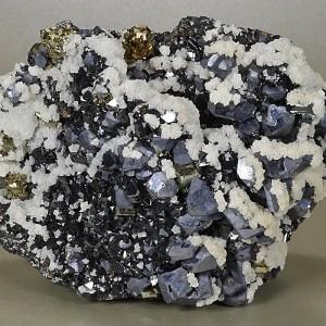 Galena, Sphalerite, Pyrite, Calcite