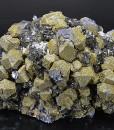 Rhombohedral Galena, Sphalerite, Chalcopyrite, Quartz