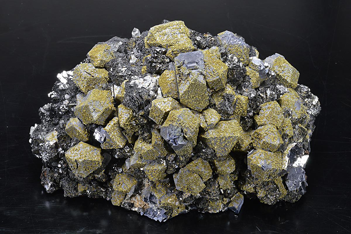 Dodecahedral Galena, Sphalerite, Chalcopyrite, Quartz ...