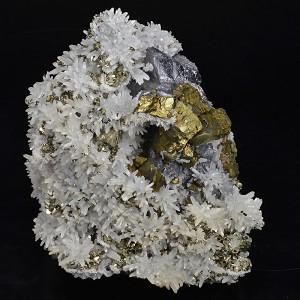 Quartz, Galena, Chalcopyrite, Pyrite