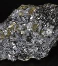 Melted habit Galena, Sphalerite tetrahedrons set on Chalcopyrite