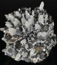 Quartz, truncated Sphalerite, Pyrite, Chalcopyrite, Galena