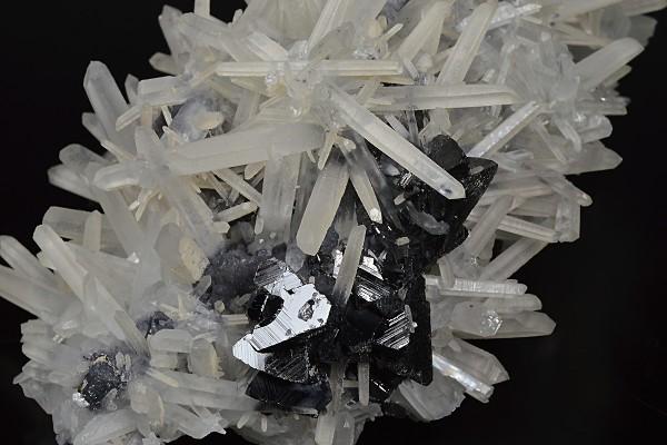 Twinned Galena, Sphalerite tetrahedrons, Quartz