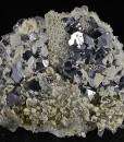 Rhombohedral Galena, Quartz, Calcite