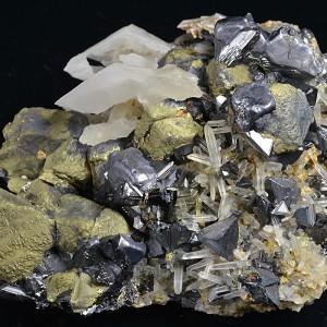 Chalcopyrite, Galena, Sphalerite, Quartz, Calcite, Pyrite