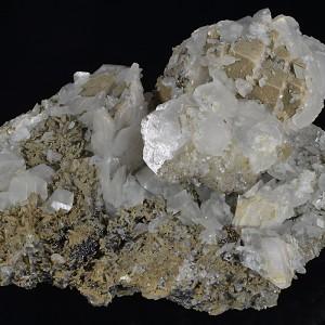 Calcite, Quartz, Sphalerite, Pyrite