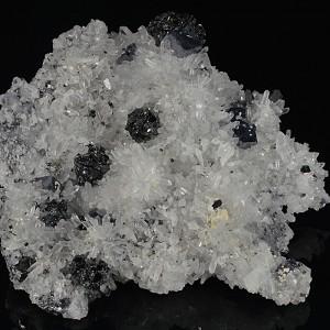 Sphalerite, Galena set on Quartz