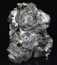 Melted habit Galena, Sphalerite, Calcite