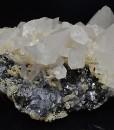 Rhombohedral Calcite, Galena, Sphalerite, Quartz