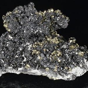 Pyrite set on Sphalerite, Galena, Quartz