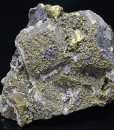 Chalcopyrite set on Galena, Quartz,Sphalerite