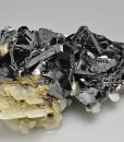 Sphalerite tetrahedrons, Calcite, Galena, Quartz