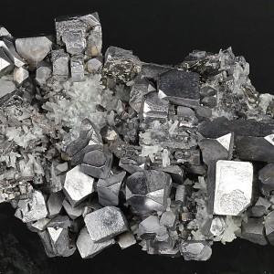Skeletal and truncated Galena, Quartz, Sphalerite, Pyrite
