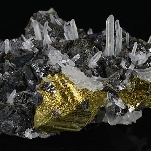 Sphalerite, Chalcopyrite, Galena, Quartz