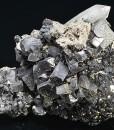 Galena,gem Sphalerite var. Cleiophane, Pyrite