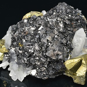 Sphalerite, Chalcopyrite, Quartz, Galena