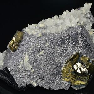 Galena, Quartz, Chalcopyrite, Pyrite
