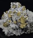 Chalcopyrite, skeletal Galena, Sphalerite, Quartz