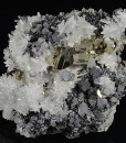 Japan Law Twin Quartz, Pyrite, Galena, Sphalerite