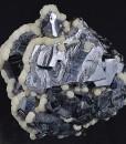 Twinned Galena, Siderite, Calcite