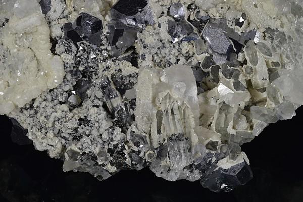 Galena, Calcite, Quartz, Sphalerite