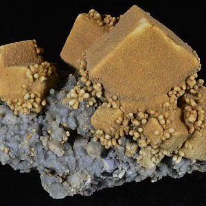 Calcite, Chalcedony, Galena